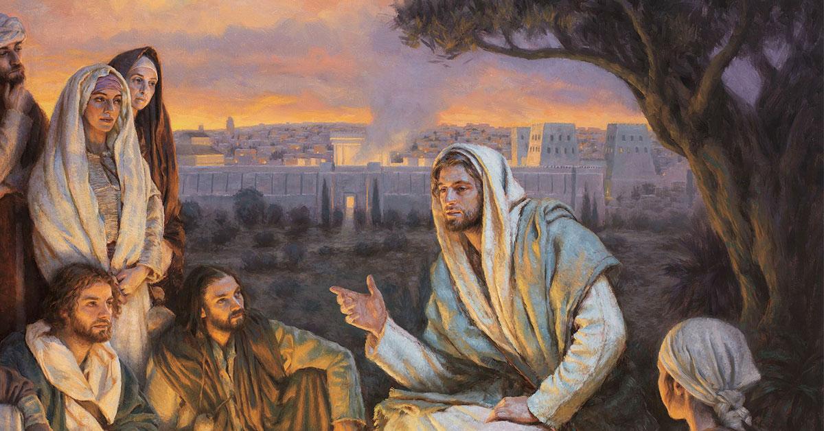 Christ Teaching His Disciples, by Justin Kunz. Image via ChurchofJesusChrist.org