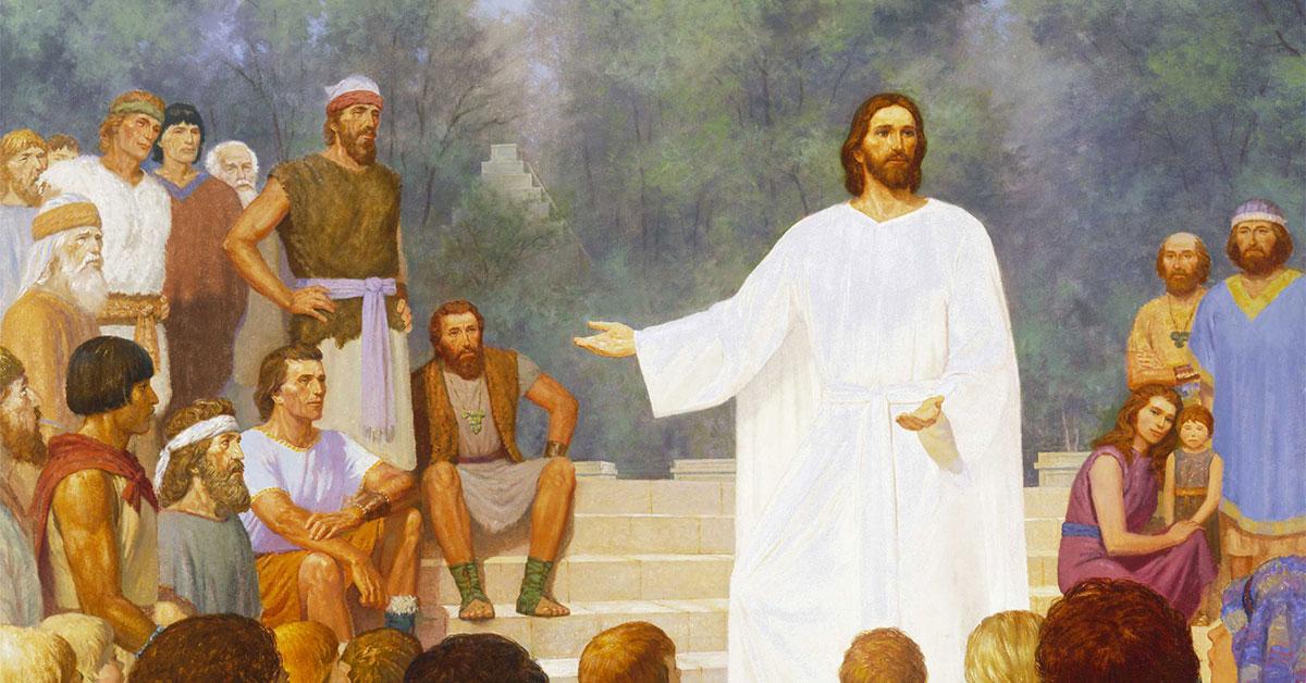 Third Nephi: These Twelve Whom I Have Chosen, by Gary L. Kapp. Image via ChurchofJesusChrist.org