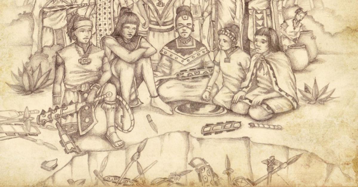 Anti-Nephi-Lehies Bury Their Weapons of War, by Jody Livingston. Image via ChurchofJesusChrist.org