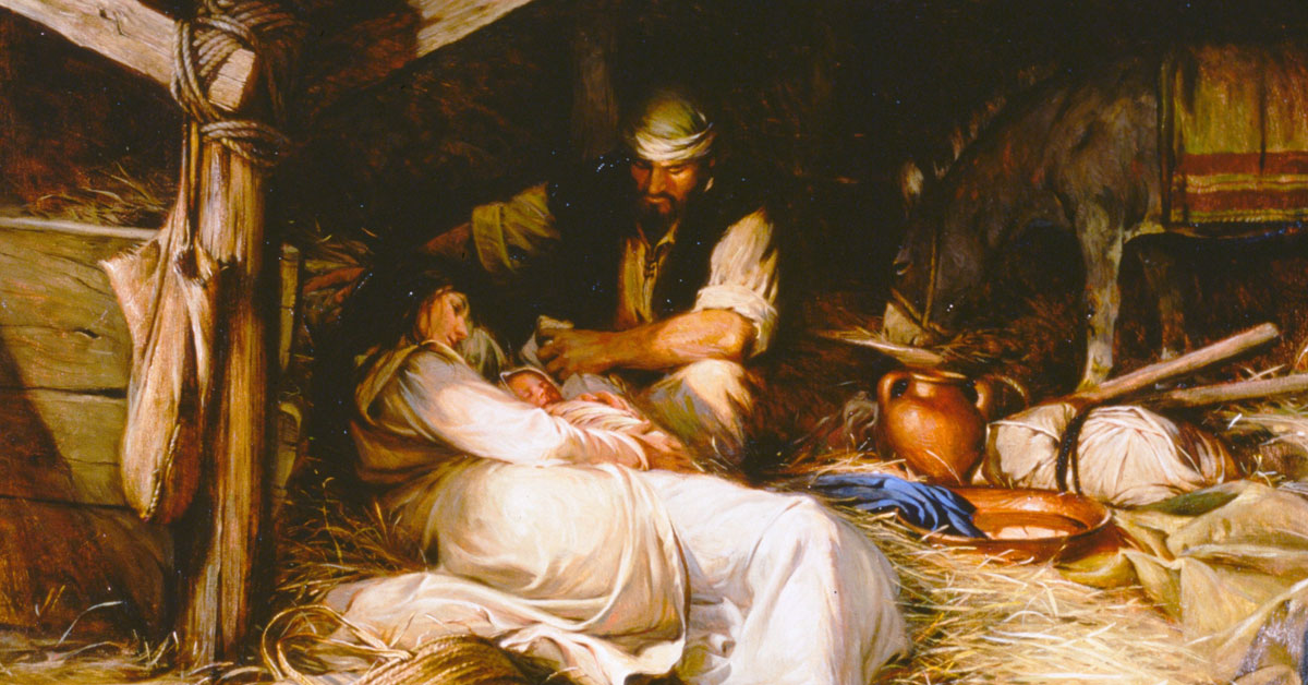 Behold the Lamb of God, by Walter Rane. Image via Church of Jesus Christ.