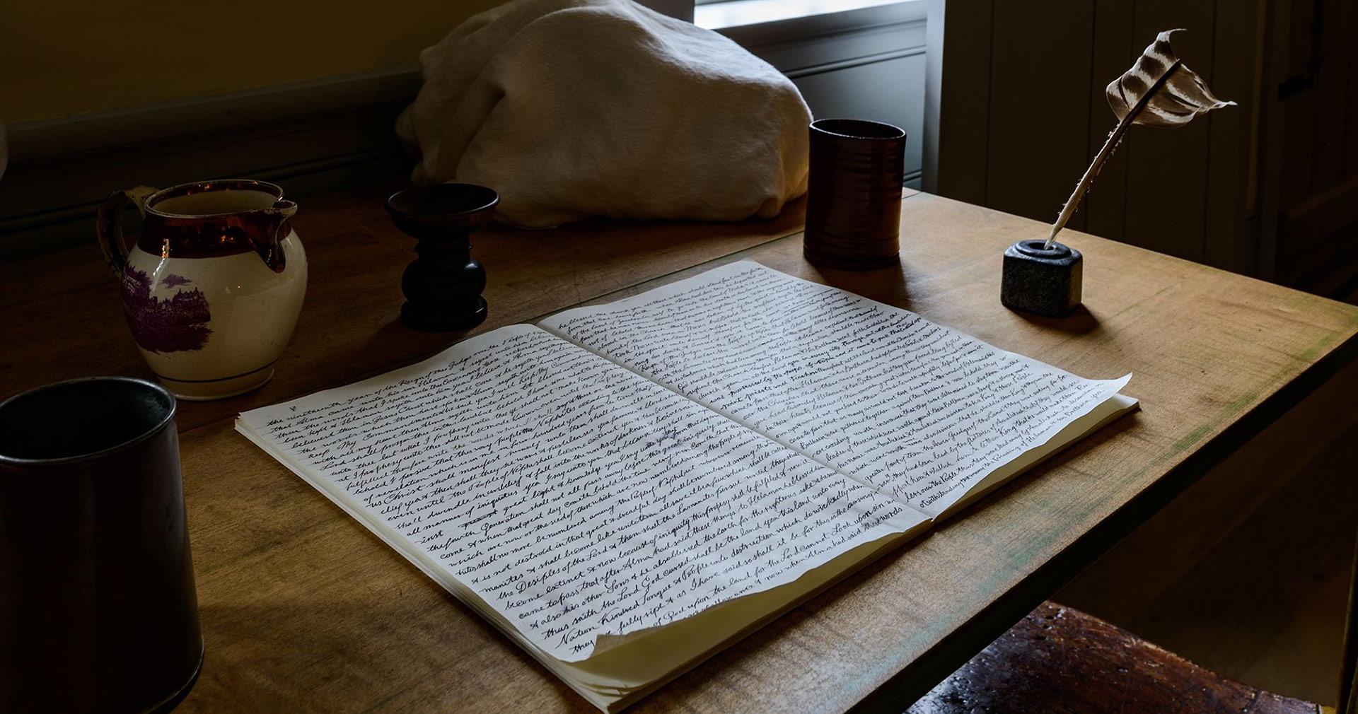Replica of the Original Manuscript of the Book of Mormon. Image via Church of Jesus Christ.