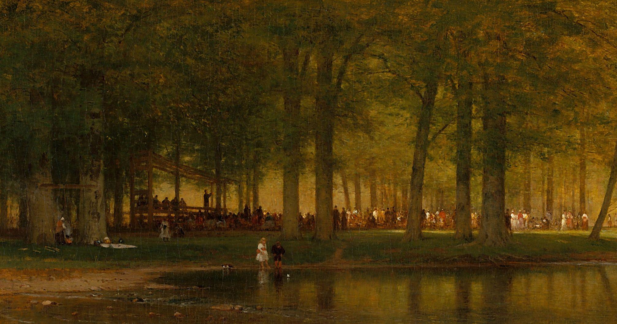The Camp Meeting, by Worthington Whittredge. Image via Church of Jesus Christ.