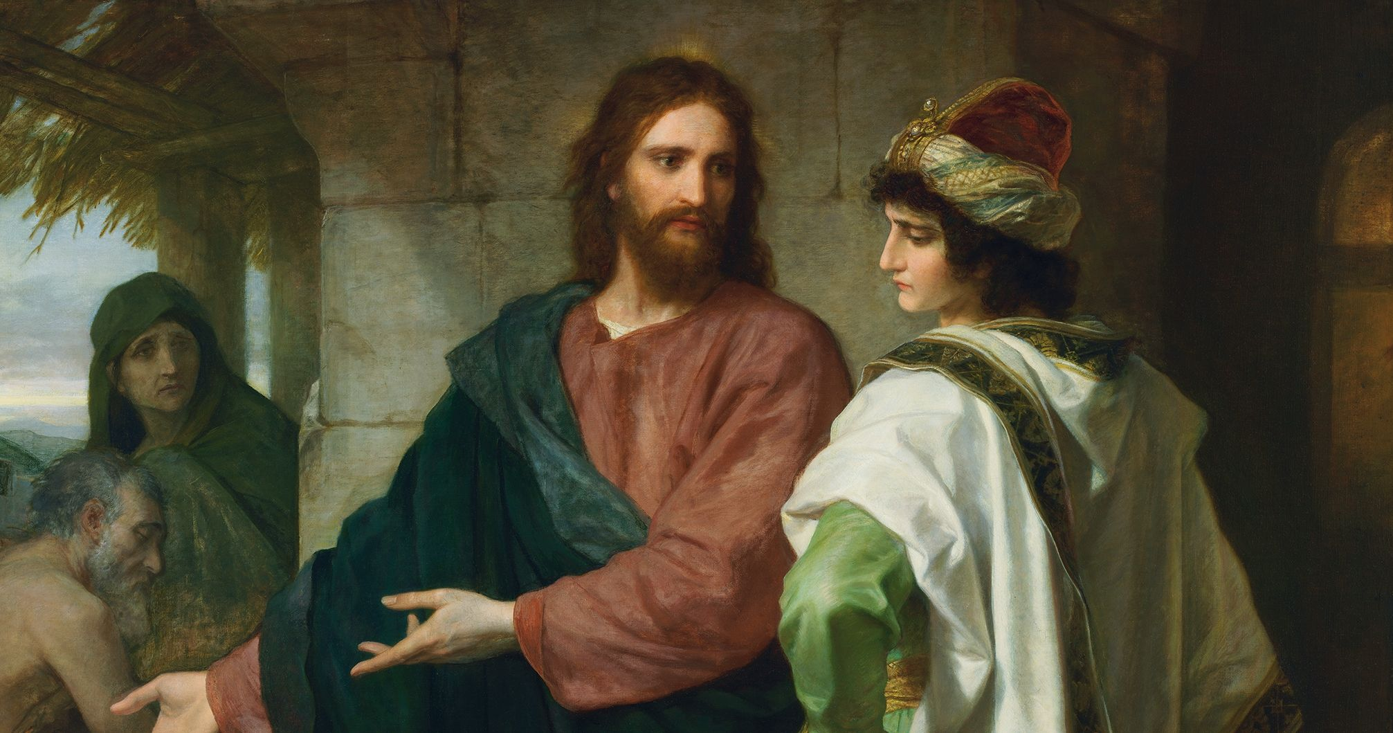 Christ and the Rich Young Ruler, by Heinrich Hofmann. Image via Church of Jesus Christ.