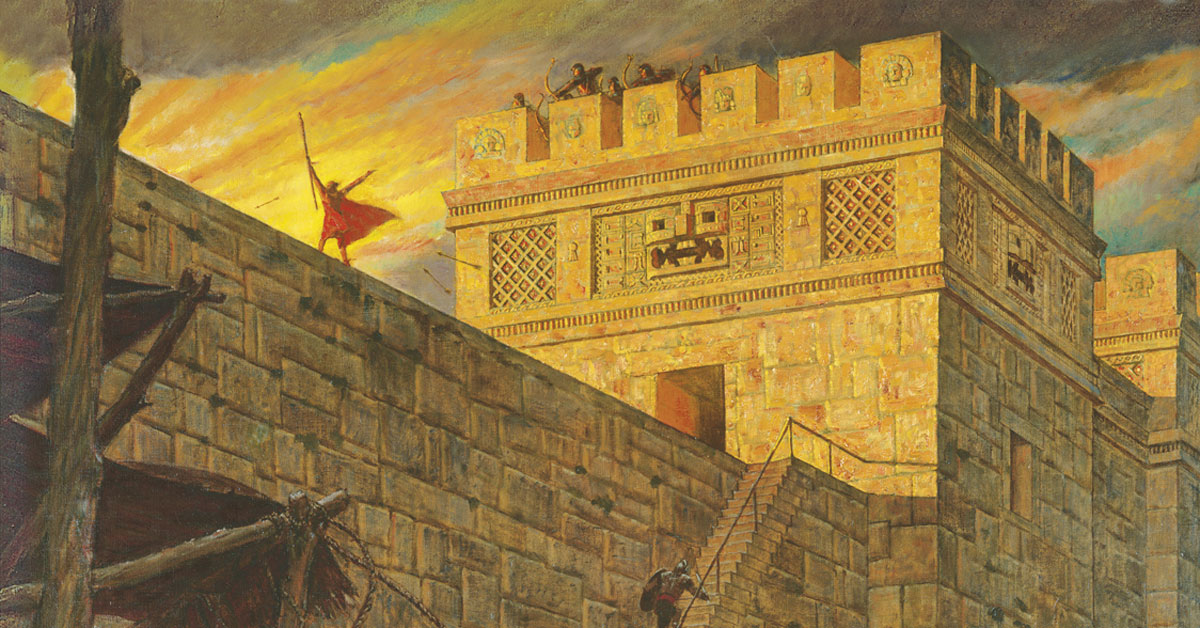 Samuel the Lamanite on the Wall, by Arnold Friberg. Image via ChurchofJesusChrist.org