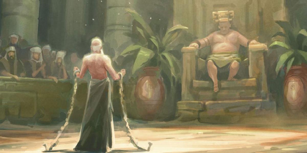 Abinadi before King Noah, by Andrew Bosley. Image via ChurchofJesusChrist.org.