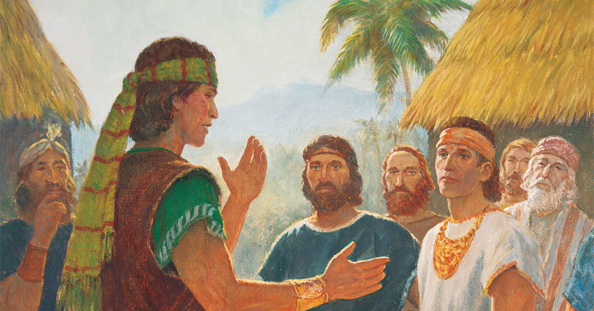 Alma the Younger Preaching, by Gary L. Kapp. Image via ChurchofJesusChrist.org