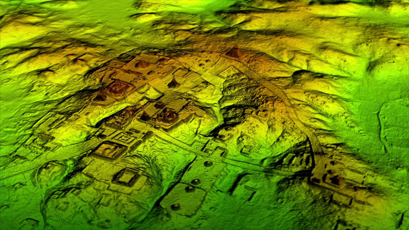 Guatemalan LiDAR Data after Rendering and Graphical Processing