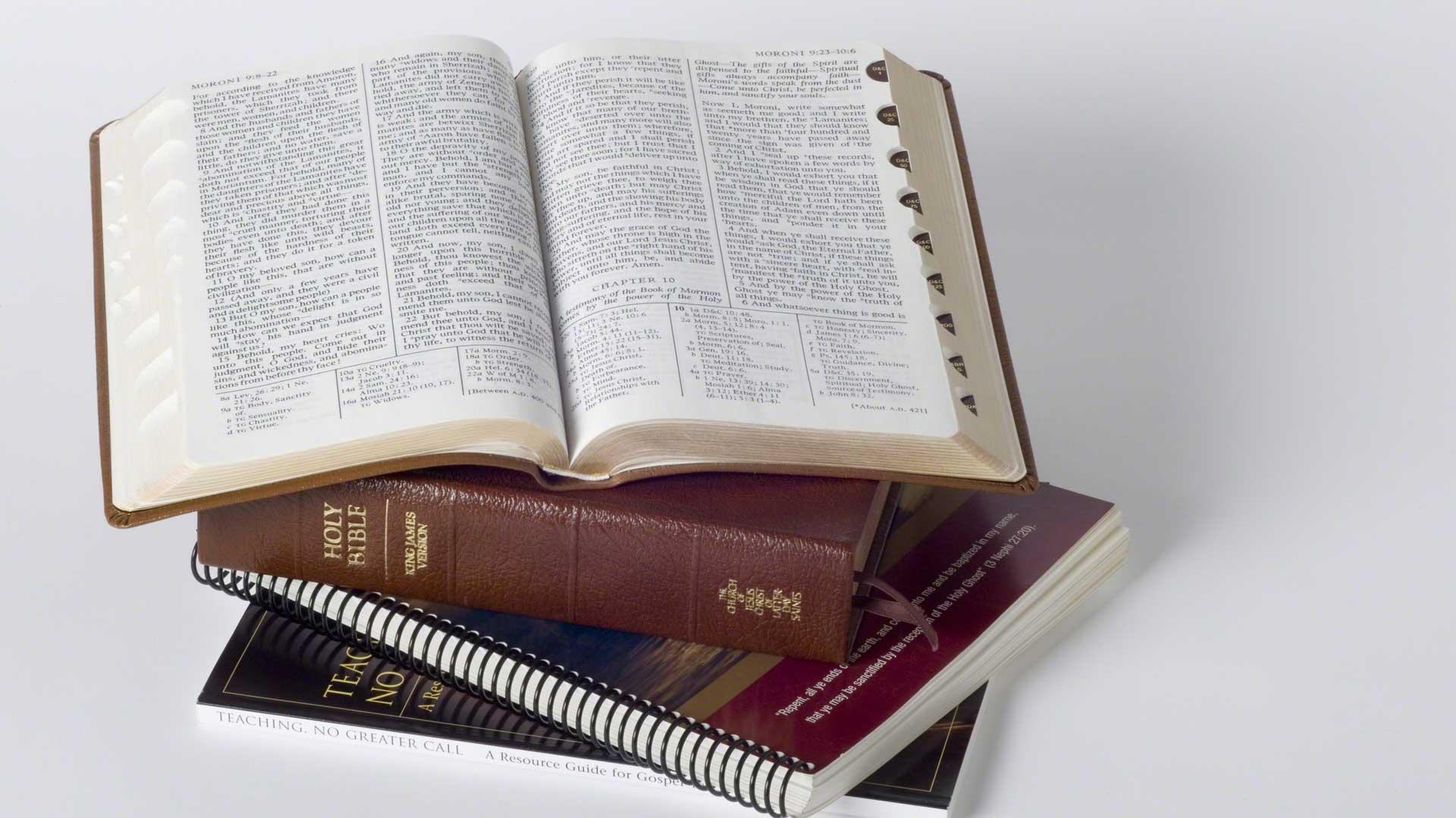 Copes of the scriptures. Photo via Gospel Media Library.