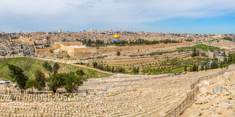 Jerusalem Panorama by Dario Bajurin via Adobe Stock