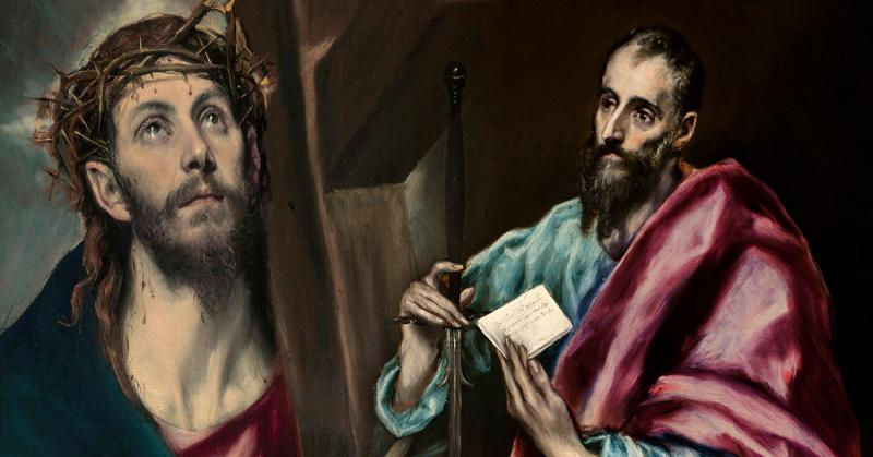 Apostle Saint Paul and Christ Carrying the Cross by El Greco. Images via Wikimedia Commons.