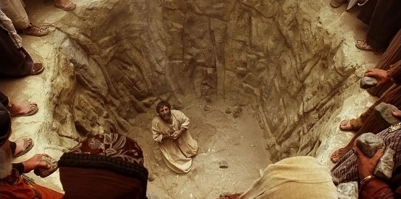 Stephen Prays as He Is Stoned via Gospel Media Library