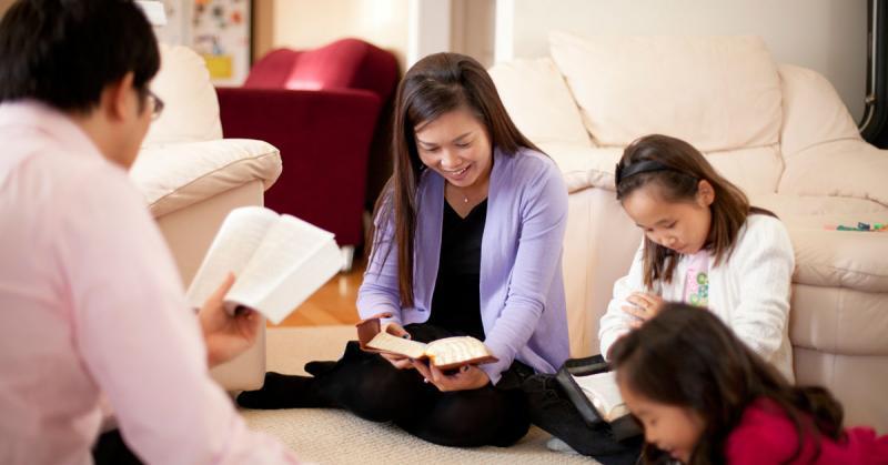 Family Scripture Study. Image via Church of Jesus Christ Gospel Media Library