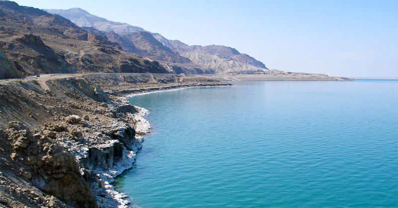 Image of the Dead Sea via Wikivoyage