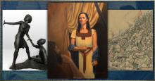 Winning art pieces from the 2019 Book of Mormon Central Art Contest