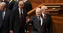 Image of The First Presidency of the Church of Jesus Christ of Latter-day Saints. Image via thechurchnews.com