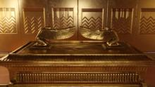 The Ark of the Covenant in the Holy of Holies in the ancient Israelite Tabernacle