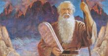 """Moses and the Tablets"" by Jerry Harston. Image via The Church of Jesus Christ of Latter-day Saints."