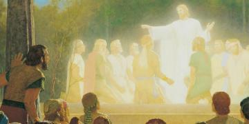 The Light of His Countenance Did Shine upon Them, by Gary L. Kapp. Image via ChurchofJesusChrist.org