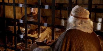 Paul in prison. Image via Gospel Media Library.