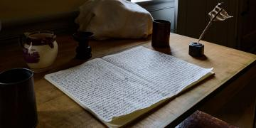 Replica of the Original Manuscript of the Book of Mormon. Image via Church of Jesus Christ.