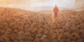 Every Knee Shall Bow, by J. Kirk Richards. Image via Church of Jesus Christ.