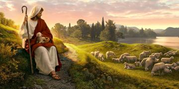 Dear to the Heart of the Shepherd, by Simon Dewey. Image via Church of Jesus Christ.