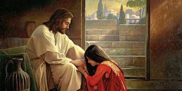 Forgiven, by Greg K. Olsen. Image via ChurchofJesusChrist.org