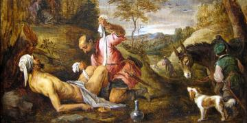 The Good Samaritan by David Teniers the Younger. Image via Wikimedia Commons.