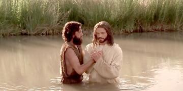 John the Baptist Baptizes Jesus Christ. Image via LDS Media Library