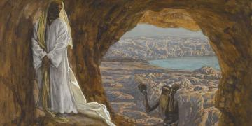 Jesus Tempted in the Wilderness by James Tissot