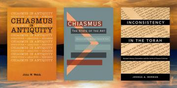 The covers of three new books on chiasmus in Biblical studies.