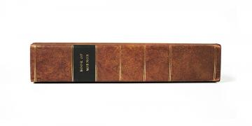 Replica of an 1830 edition of the Book of Mormon. Photo by Jasmin Gimenez Rappleye.