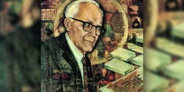 Portrait of Hugh Nibley by Rebecca Fechser Everett